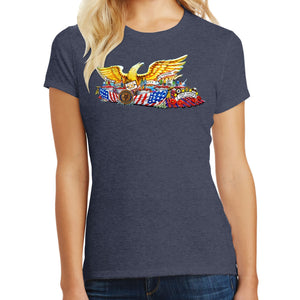 The American Legion 100 Year Float Ladies Tee - Navy