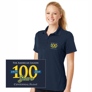 The American Legion 100 Year Float Ladies Polo - Navy