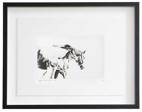 Aragorn, Colt, With Mother :: Photogravure Etching