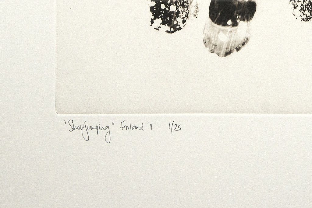 Snowjumping :: Photogravure Etching
