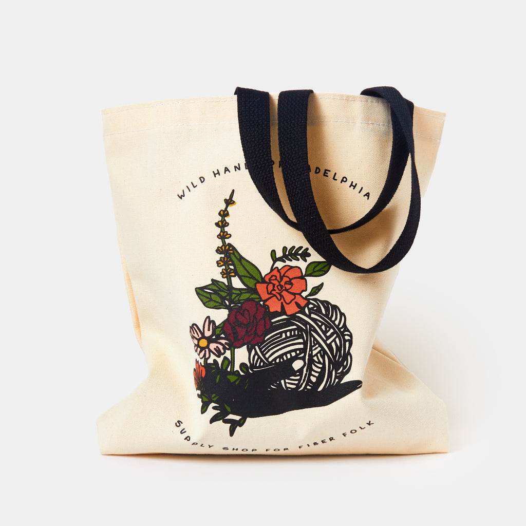 Wild Hand Floral Tote
