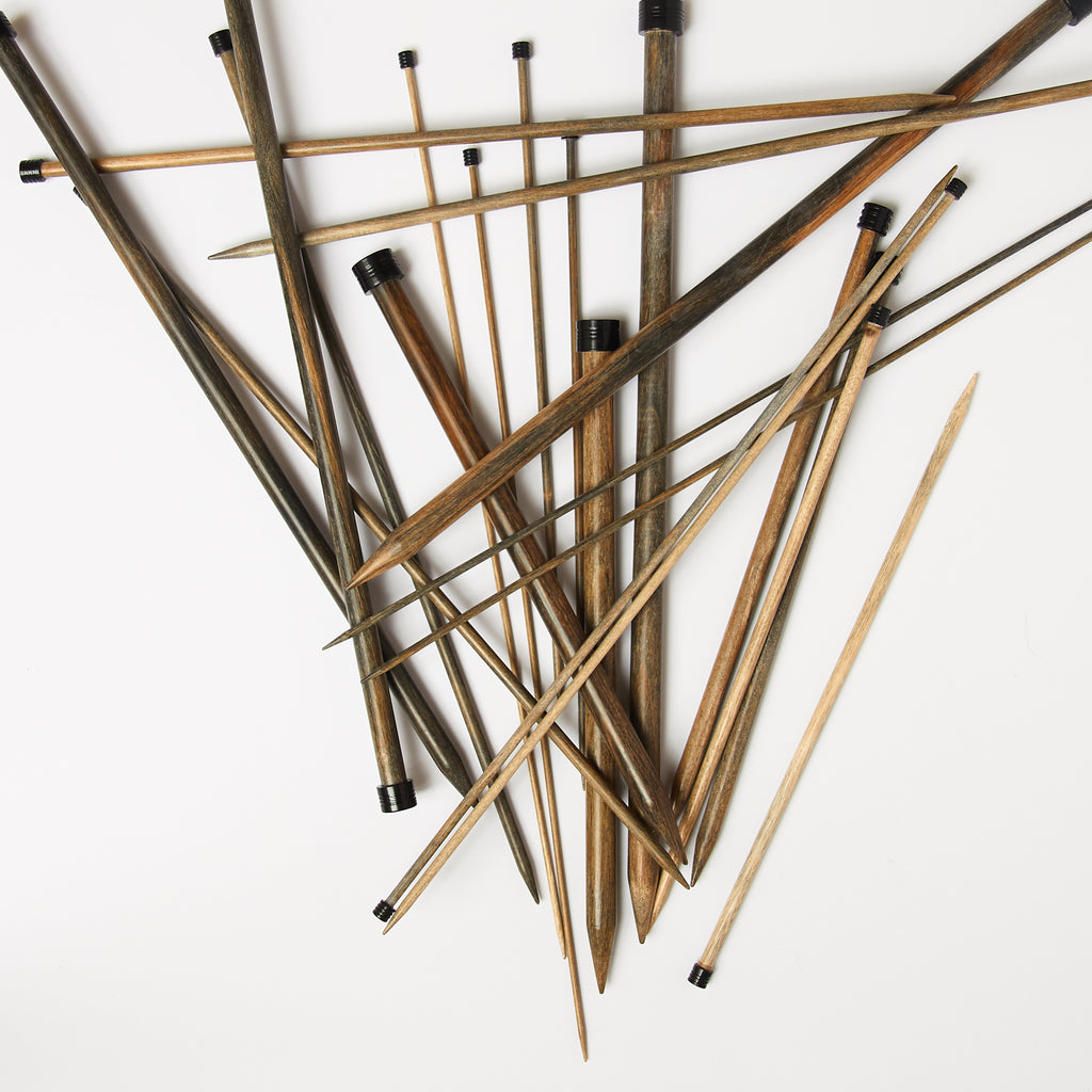 "Straight ""Driftwood"" Knitting Needles"
