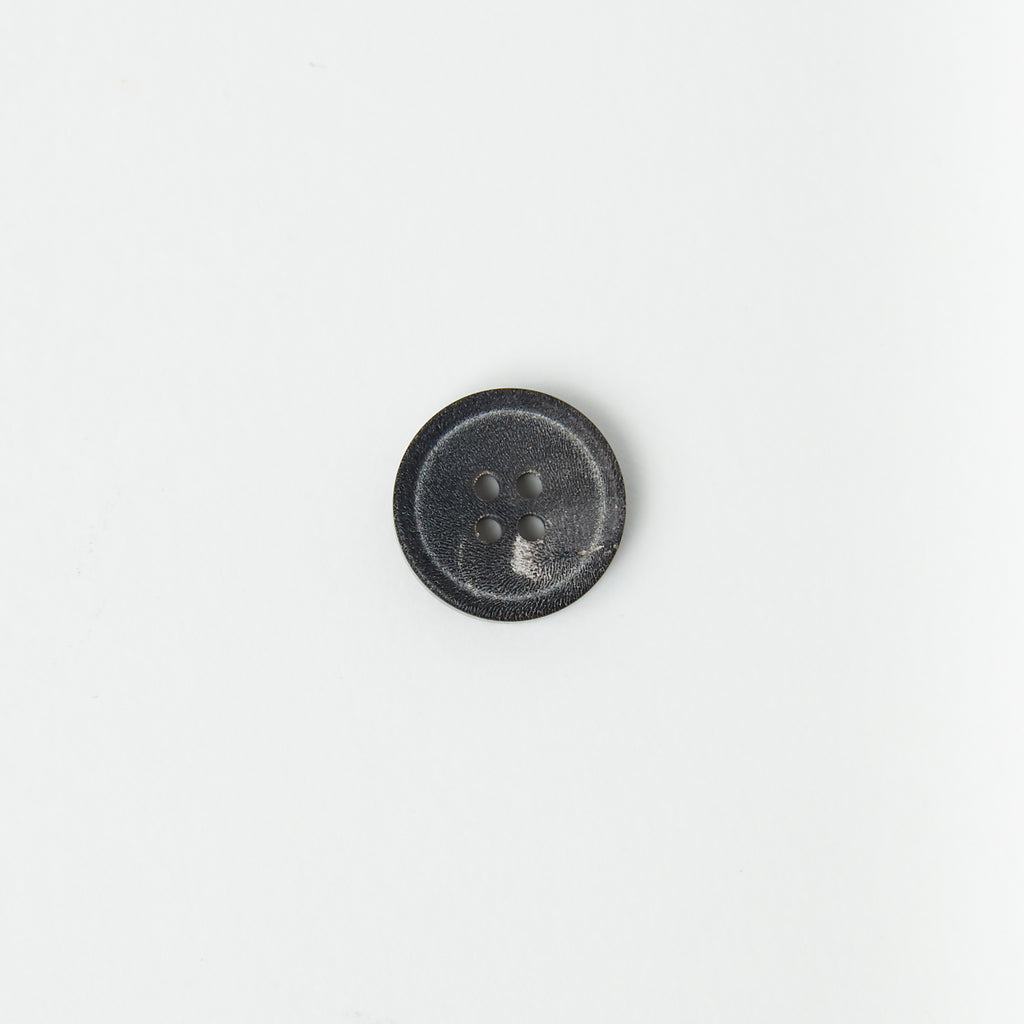 Black/Grey Horn Button