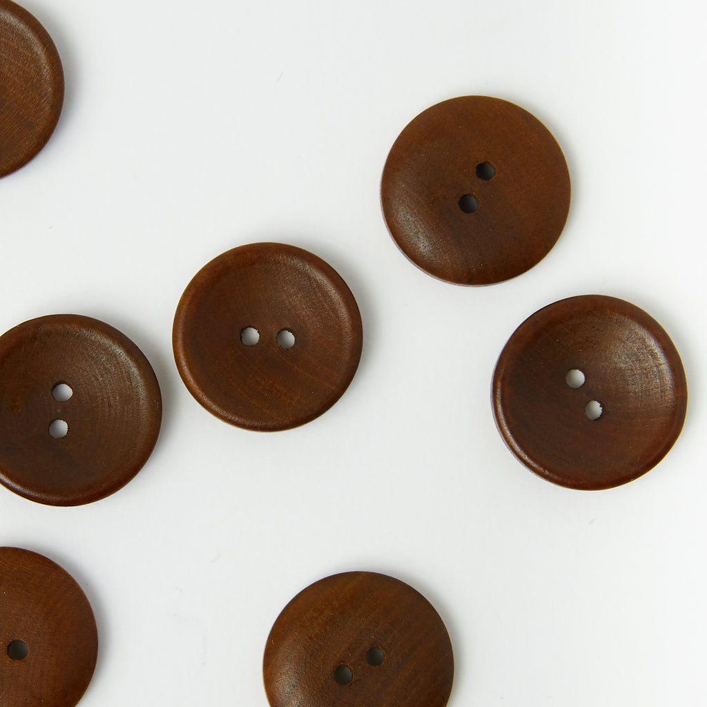 Concave Wood Button