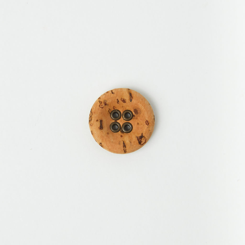 Cork + Bronze Button