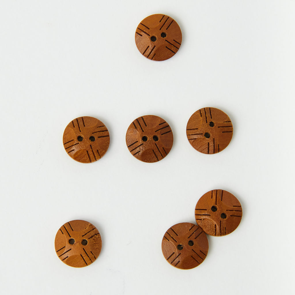 Wood Lined Button
