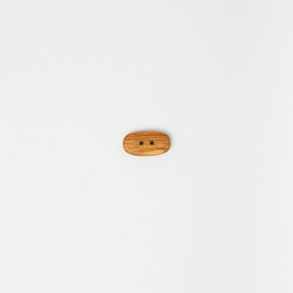 Oak Wood Oval Button