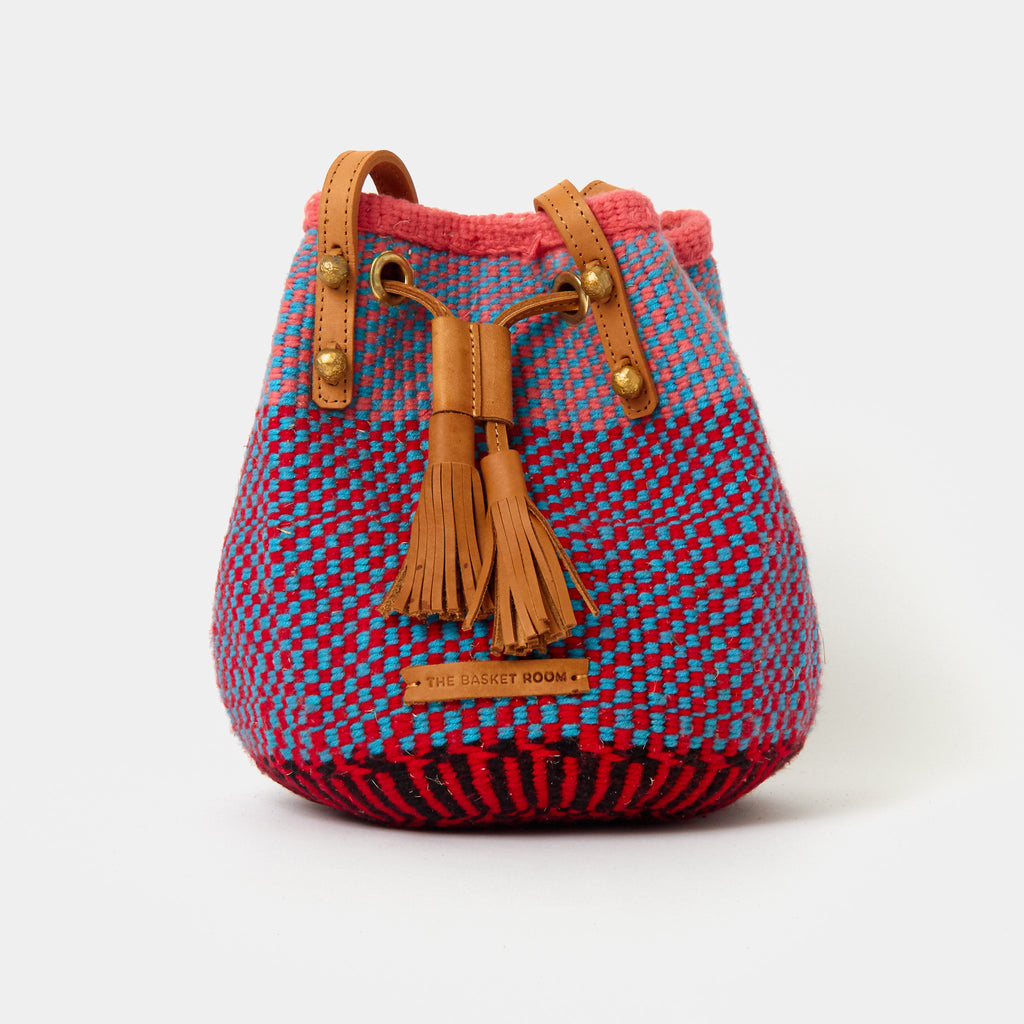 Handwoven Crossbody Bucket Bag