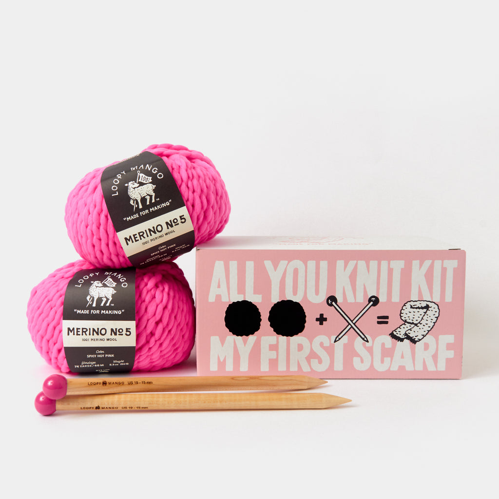 All You Knit Kit :: My First Scarf