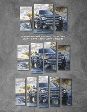 3 Panels 2017 Ford F-150 Raptor Wall Art Canvas Print