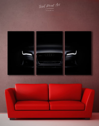 3 Panels Audi Car Wall Art Canvas Print - 3 Panels bedroom manly wall art wall art for men