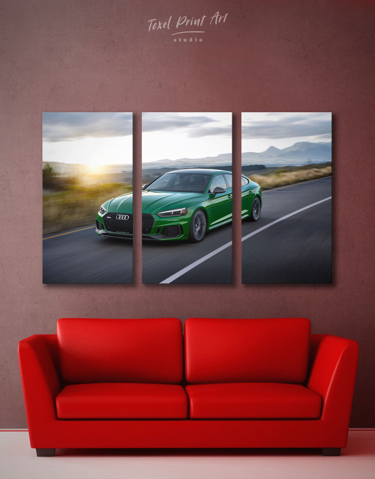 3 Panels Audi Sportback Wall Art Canvas Print - 3 Panels bachelor pad Car garage wall art wall art for men