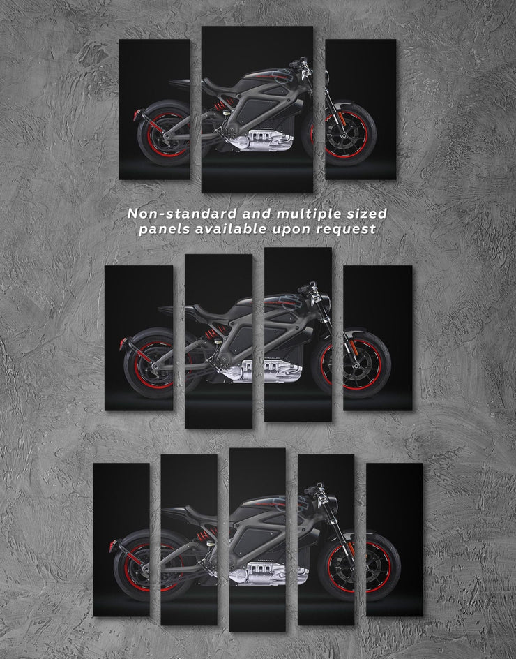 3 Panels Avengers Motorcycle Wall Art Canvas Print - Canvas Wall Art 3 Panels bachelor pad bedroom black Hallway