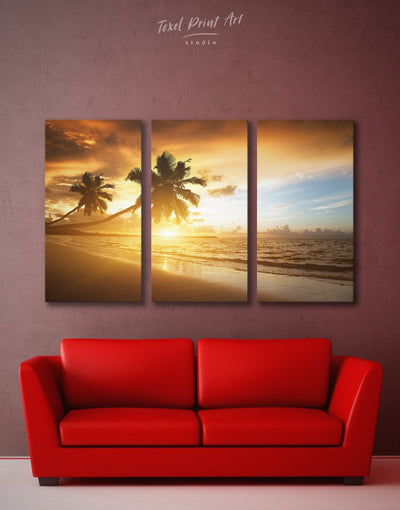 3 Panels Beach Wall Art Canvas Print - 3 Panels Beach House beach wall art beach wall art for bathroom bedroom