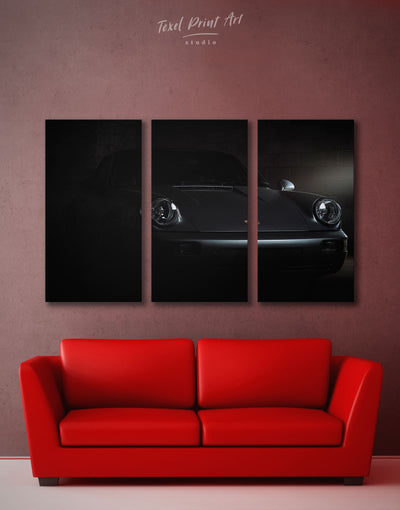 3 Panels Black Jackson Autocare Wall Art Canvas Print - 3 Panels bachelor pad black car garage wall art