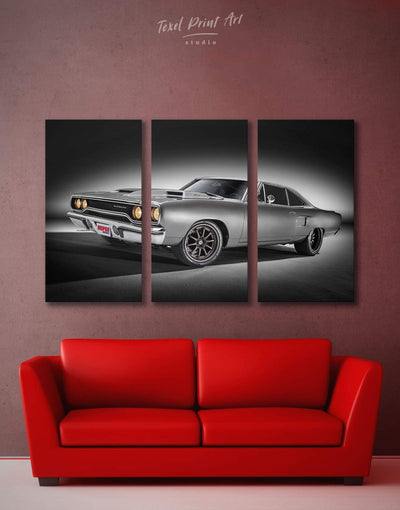 3 Panels Car Wall Art Canvas Print - 3 Panels bachelor pad bedroom Car garage wall art