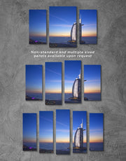3 Panels Dubai Burj Al Arab Jumeirah Wall Art Canvas Print