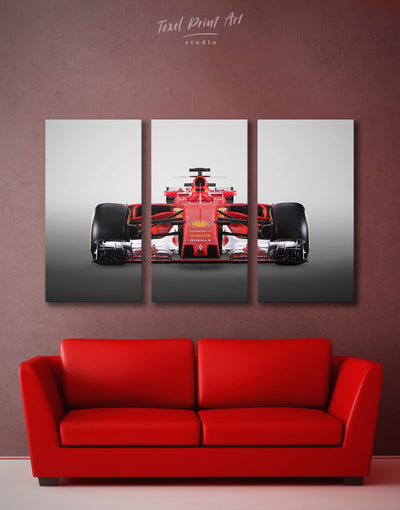 3 Panels Ferrari SF70H Car Wall Art Canvas Print - 3 Panels bachelor pad Car garage wall art Hallway