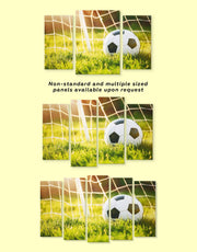 3 Panels Football Game Wall Art Canvas Print