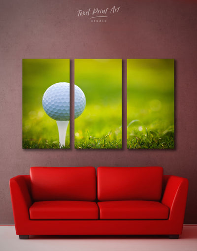 3 Panels Golf Wall Art Canvas Print - 3 Panels bachelor pad bedroom green Hallway