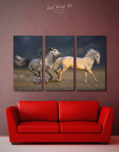 3 Panels Horse Wall Art Canvas Print - 3 Panels Animal Animals bedroom Dining room