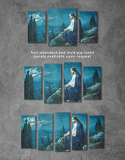 3 Panels Jesus Christ Wall Art Canvas Print