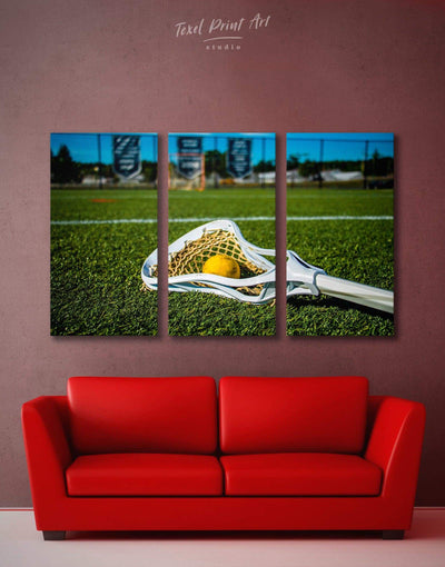 3 Panels Lacrosse Wall Art Canvas Print - Canvas Wall Art 3 Panels green Hallway inspirational wall art Lacrosse