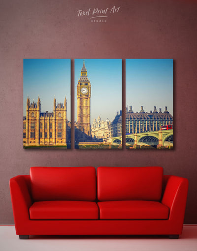 3 Panels London Great Britain Capital Wall Art Canvas Print - 3 Panels bedroom City Skyline Wall Art Cityscape Dining room