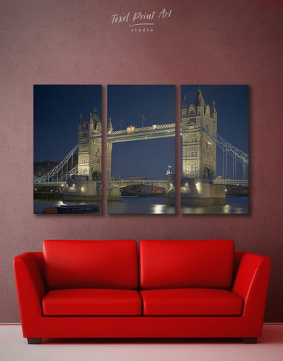 3 Panels London Tower Wall Art Canvas Print - 3 Panels bedroom Bridge City Skyline Wall Art Cityscape