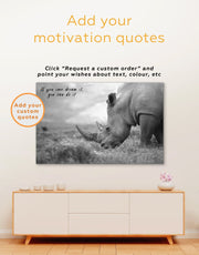 3 Panels Mighty Rhino Wall Art Canvas Print