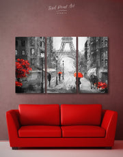 3 Panels Paris City Wall Art Canvas Print