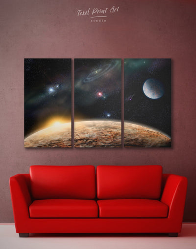 3 Panels Space Wall Art Canvas Print - 3 Panels bedroom Constellations Wall Art Dining room dining room wall art