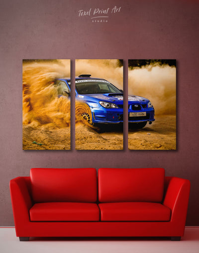 3 Panels Subaru Impreza Wall Art Canvas Print - 3 Panels bachelor pad car garage wall art manly wall art
