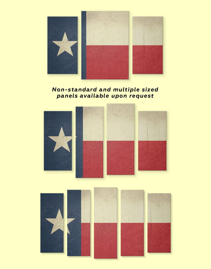 3 Panels Texas Flag Wall Art Canvas Print - 3 Panels Flag Wall Art Living Room modern wall art Office Wall Art