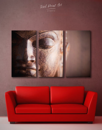 3 Panels Yoga Inspired Wall Art Canvas Print - 3 Panels bedroom Buddha wall art buddhist wall art Hallway