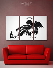 3 Piece Banksy's Fallen Angel  Street Wall Art Canvas Print