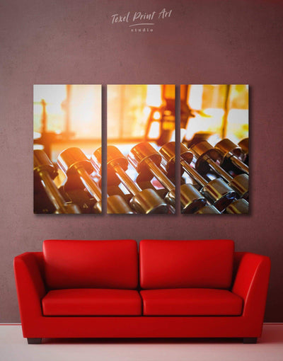 3 Piece Home Gym Wall Art Canvas Print - 3 Panels Home Gym inspirational wall art Living Room manly wall art