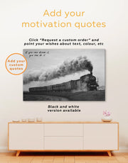 3 Piece Old Train Wall Art Canvas Print