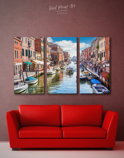 3 Piece Venice Wall Art Canvas Print - 3 Panels bedroom City Skyline Wall Art Cityscape Italy wall art