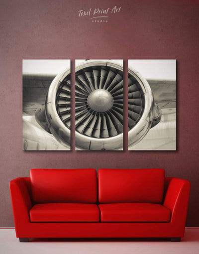 3 Pieces Airplane Wall Art Canvas Print - 3 Panels Aviation bachelor pad bedroom Hallway