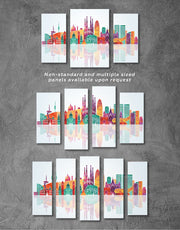 3 Pieces Barcelona Skyline Canvas