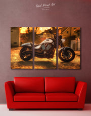 3 Pieces Bike Wall Art Canvas Print