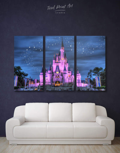 3 Pieces Disney Wall Art Canvas Print - 3 Panels bedroom disney Kids room kids wall art