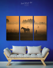 3 Pieces Horse Silhouette Wall Art Canvas Print