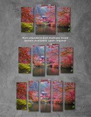 3 Pieces Japan Garden Wall Art Canvas Print