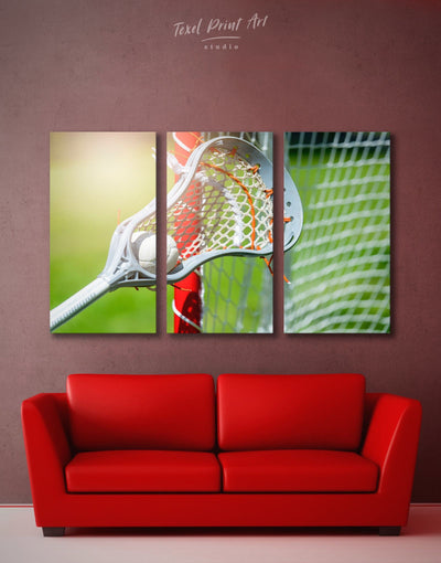 3 Pieces Lacrosse Wall Art Canvas Print - Canvas Wall Art 3 Panels bachelor pad green Hallway lacrosse