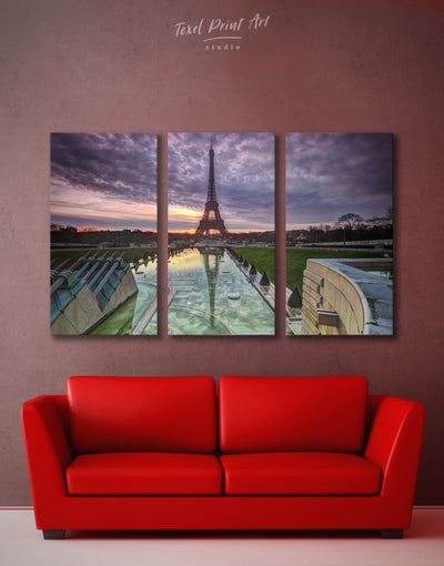 3 Pieces Modern Paris Wall Art Canvas Print - 3 Panels bedroom City Skyline Wall Art Cityscape eiffel tower wall art