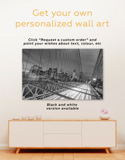 3 Pieces New York Brooklyn Bridge Wall Art Canvas Print