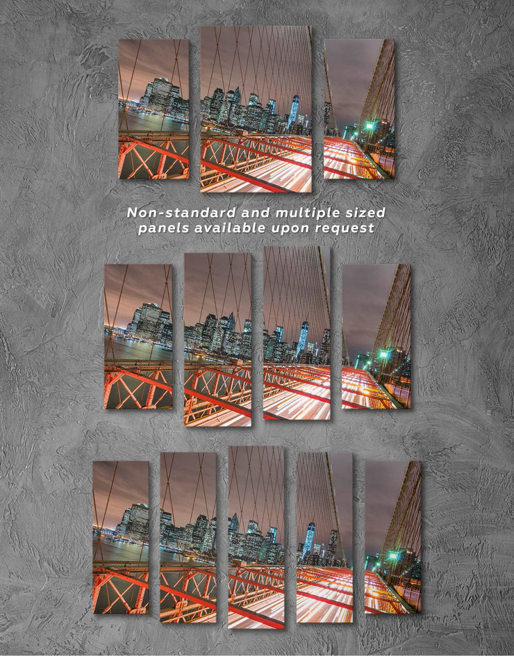 3 Pieces New York Brooklyn Bridge Wall Art Canvas Print - 3 Panels bedroom Bridge Brooklyn bridge wall art City Skyline Wall Art
