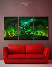 3 Pieces World of Warcraft Wall Art Canvas Print